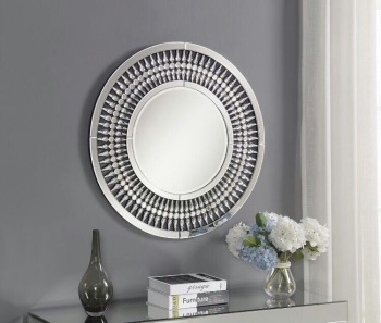 *Crystal Round Wall Mirror