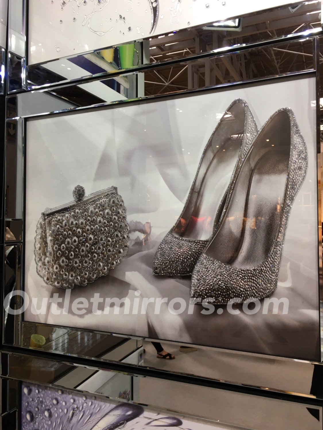 Mirror Framed Art Print Quot Sparkle Shoes Amp Handbag 95cm X 75cm In Stock For A Quick Delivery