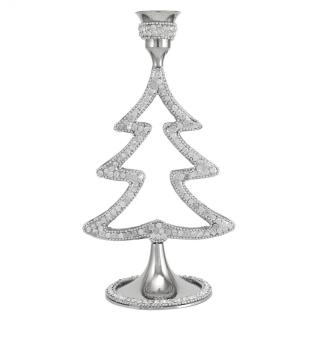 Xmas crystal jewel Tea Light Holder small 18cm high