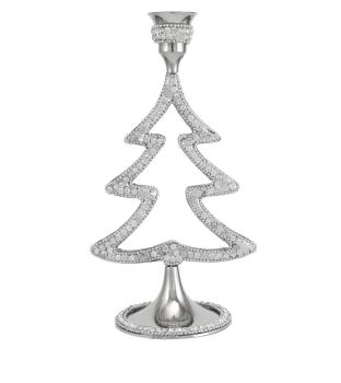 Xmas Tree crystal jewel Tea Light Holder 20cm (medium)