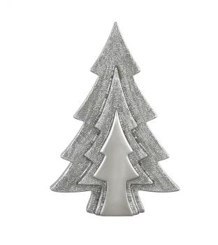 Xmas Tree Shape Silver Decor