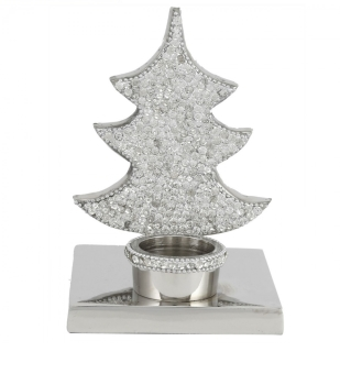 Xmas tree crystal jewel Single Tea Light Holder