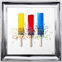 Quirky Sparkle Glitter Paint Brush Wall Art 75cm x 75cm