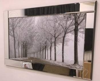 """Mirror framed art print """" Winter wonderland"""" 114cm x 64cm  in stock for a quick delivery"""