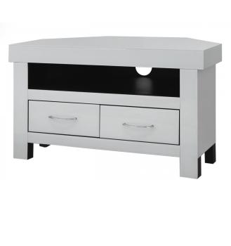luxury Modern White Mirrored Corner Tv Base Unit