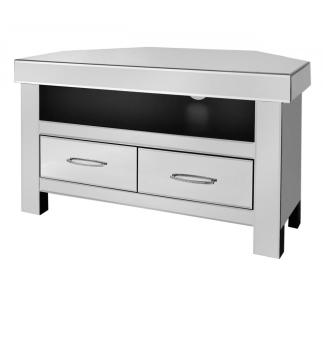 luxury Modern Silver Mirrored Corner Tv Base Unit