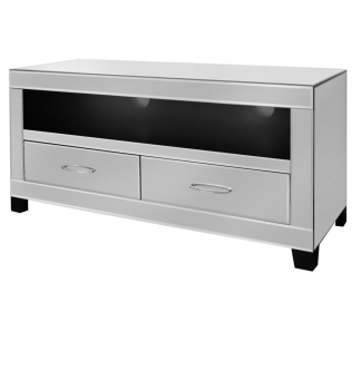 Silver Mirrored 2 Draw TV Entertainment Unit