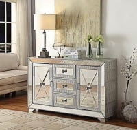 Sofia Mirrored 3 Draw 2 Door Sideboard