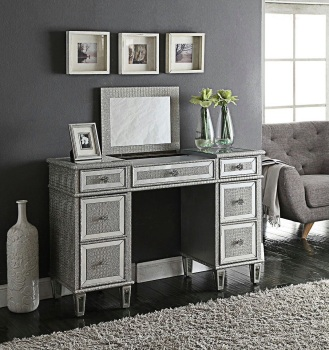Sofia Mirrored 7 Draw Dressing Table