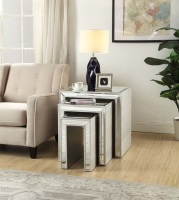 Sofia Mirrored Nest of 3 Tables