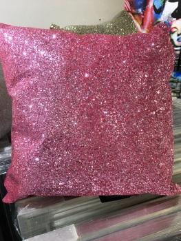 Pink Sparkle Glitter Cushion 45cm x 45cm
