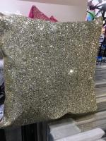 Silver Sparkle Glitter Cushion 45cm x 45cm