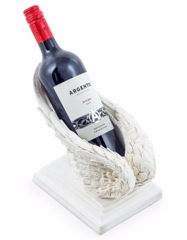 New angels Wings Wine Bottle Holder in Antique white