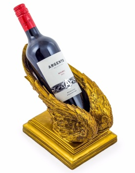 New angels Wings Wine Bottle Holder in Gold