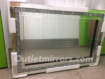 Diamond Crush Sparkle Mirror new value range 120cm x 80cm Item in stock