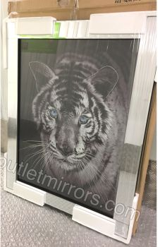 "Mirror framed ""Tiger pose"" Wall Art"