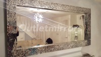 Mosaic extra large silver wall mirror
