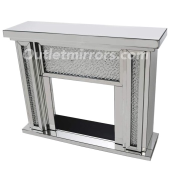 Floating Crystal Mirrored Fire Surround  in stock for a fast delivery