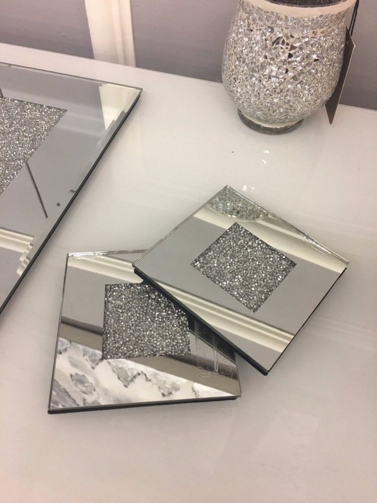Crush Sparkle Mirrored Coasters set of 4