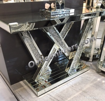 *Diamond Crush crystal Sparkle Shards Console Table
