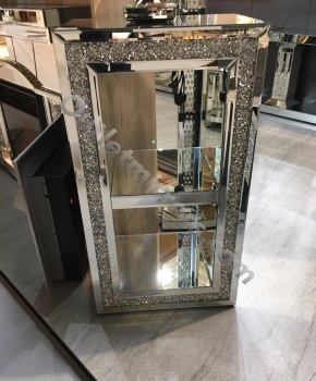 * New Diamond Crush Sparkle Crystal Mirrored Block medium Display stand