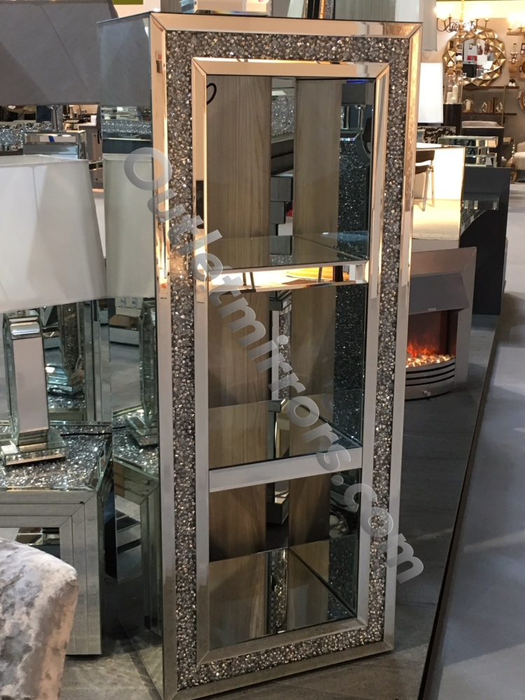 New Diamond Crush Sparkle Crystal Mirrored Block Display