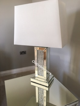 ^Crush Sparkle Mirrored Lamp with shade