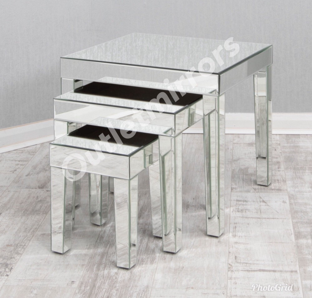 Mirrored Nest of Tables item in stock