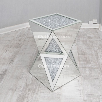 * Diamond Crush Crystal Sparkle Double Twist Lamp Table small