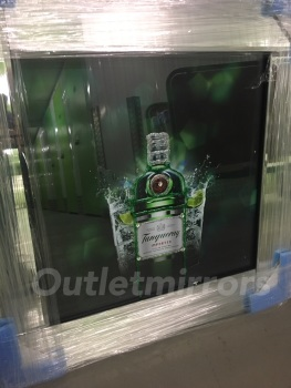 ** Tanqueray Glitter Art Mirrored Frame ** 57cm x 57cm  in stock for a quick delivery