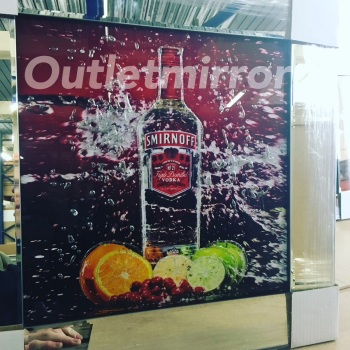 ** Smirnoff Vodka Glitter Art Mirrored Frame ** 57cm x 57cm