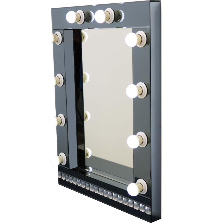 Smoked Grey Hollywood Mirror 80cm x 60cm