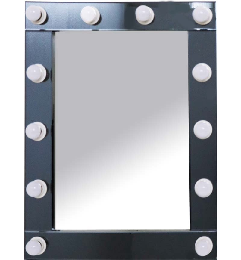 Smoked Grey Hollywood Mirror 80cm x 60cm