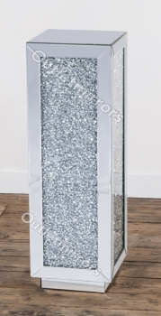 * New Diamond Crush Sparkle Crystal Mirrored Tall Lamp Table item in stock