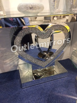 *Diamond Crush Crystal Sparkle Heart Console Table item in stock