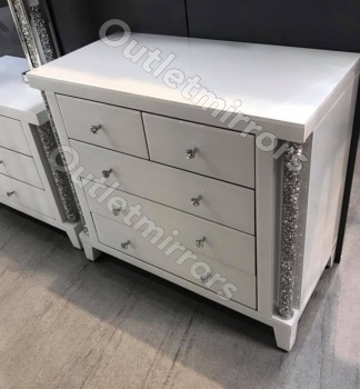 * Diamond Crush Crystal white  3 + 2 large Chest of Draws