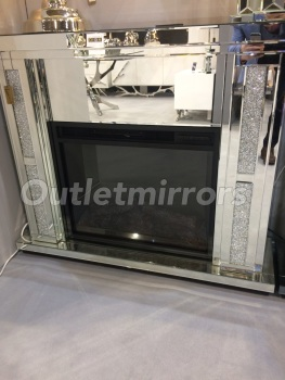 Special offer Crush Sparkle Mirrored Fire Surround with electric fire