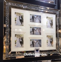 Diamond Crush Crystal Mirrored Photo Frame 70cm x 60cm  instock