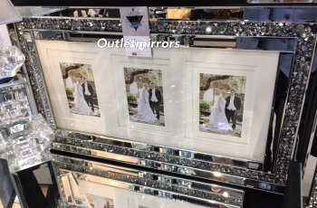 Diamond Crush Crystal Mirrored Photo Frame 70cm x 40cm in stock for a fast delivery