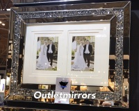 Diamond Crush Crystal Mirrored Photo Frame 50m x 40cm