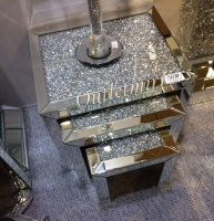 * Diamond Crush Crystal large Nest of 3 Tables item  - in stock