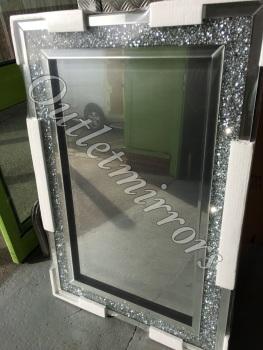 Diamond Crush Sparkle Mirror new value range wide border 120cm x 80cm Item in stock