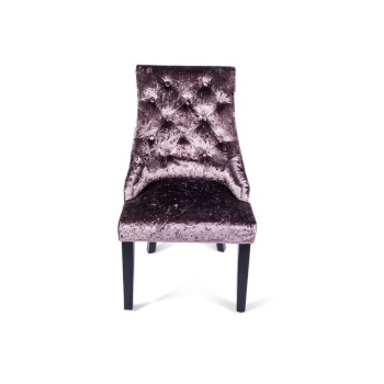 Crush Velvet Dining Chair in Plum Purple