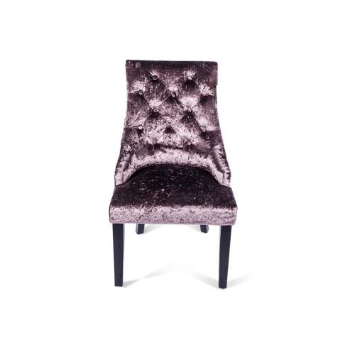 reputable site 73cf0 076fe Crush Velvet Dining Chair in Plum Purple