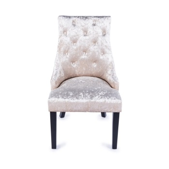 Crush Velvet Dining Chair in Champagne
