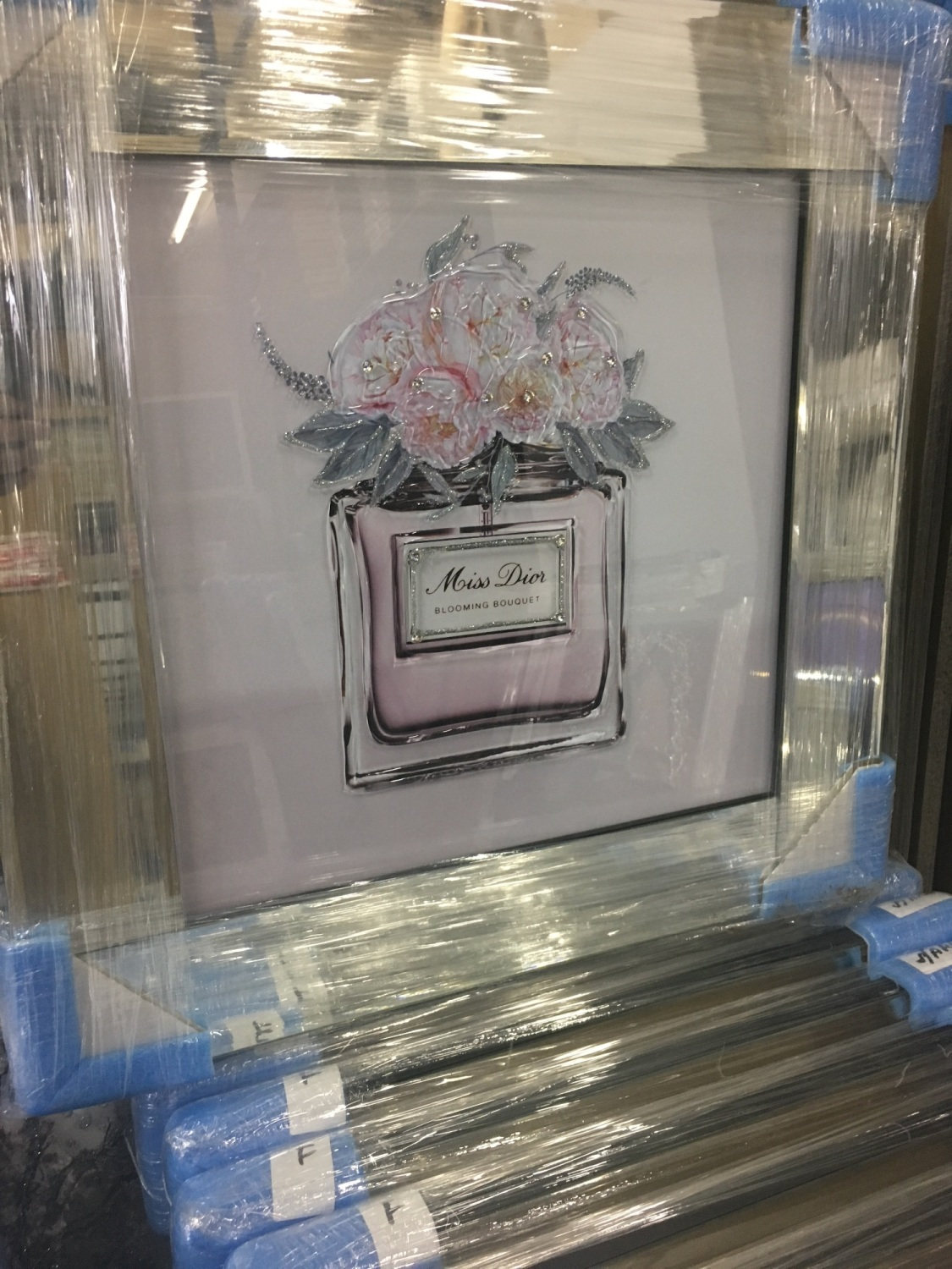 Mirror Framed Sparkle Glitter Art Quot Miss Dior Blooming