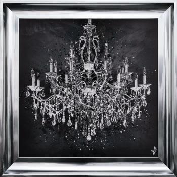 """framed art print """"Glitter Sparkle Chandelier"""" Choice of frame colours"""