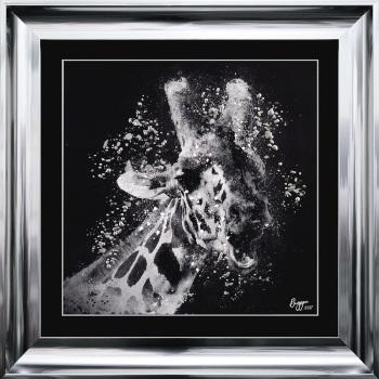 """framed art print """"Glitter Sparkle Giraffe 2"""" Choice of frame colours"""