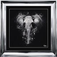 "framed art print "" Elephant"" Choice of frame colours"