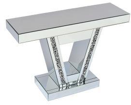 *Diamond Crush Sparkle Crystal Elanor Console Table 90cm